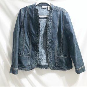 Chico's Platinum Medium Wash Jean Jacket